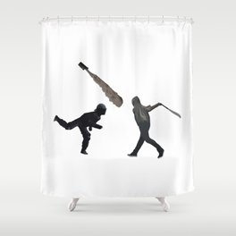 Riot Baseball Shower Curtain