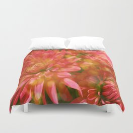 Glowing Chrysanthemums Duvet Cover