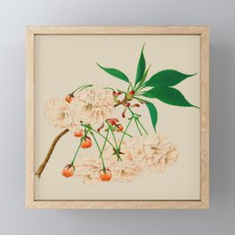 Fugen's Elephant Cherry Blossoms Framed Mini Art Print