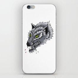 Trad Wolf iPhone Skin