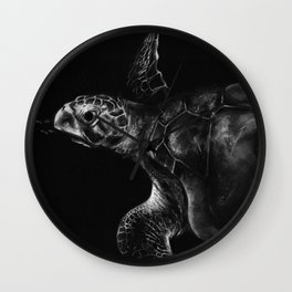Olive Ridley Turtle Wall Clock