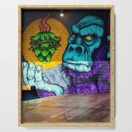 Urban Gorilla Graffiti Art Serving Tray