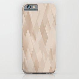 Beige Harlequin iPhone Case