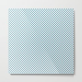 Hippie Blue Polka Dots Metal Print
