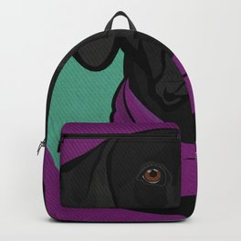 Icons of the Dog Park: Black Labrador Design in Bold Colors for Pet Lovers Backpack