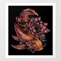 koi fish Art Prints featuring Koi Fish by Absorb81