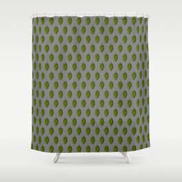 Hops Gray Pattern Shower Curtain