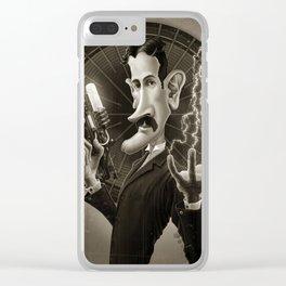 Nikola Tesla Clear iPhone Case