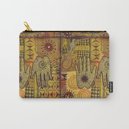 African Ethno Pattern Hand Symbol Carry-All Pouch