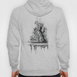 ink dripping and flames Hoody