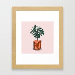 Houseplant in semi-abstract pot Framed Art Print