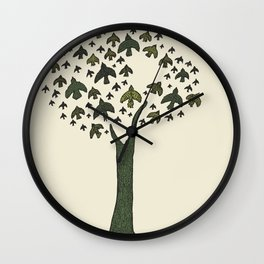 The Bird Tree Wall Clock