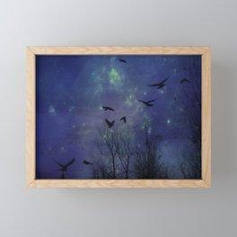 Celestial Night Of Crows Framed Mini Art Print