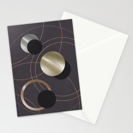 Golden Eclipses Stationery Cards