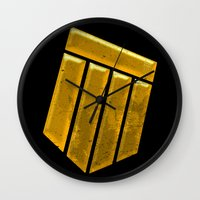 shield Wall Clocks featuring Shield by Emma Harckham