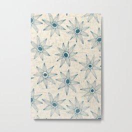 sema cream blue Metal Print