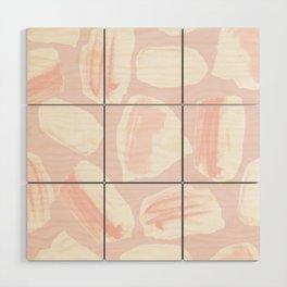 Brushstrokes Pattern Pink Wood Wall Art