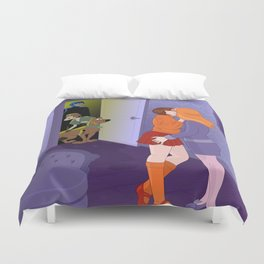 Scooby Velma Daphne Lesbian Cartoon Duvet Cover