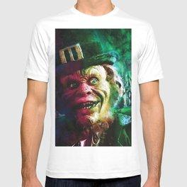 The Leprechaun comic book cover featuring Warwick Davis classic horror! T-shirt