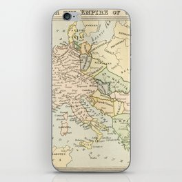 Old Map of Europe under the Empire of Charlemagne iPhone Skin