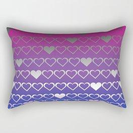 bi ace hearts Rectangular Pillow