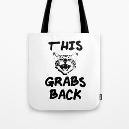 This Cat Grabs Back Tote Bag