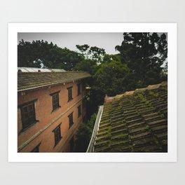 Kathmandu City Roof Tops - Architecture 01 Art Print