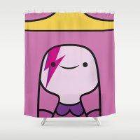 princess bubblegum Shower Curtains featuring Princess Bubblegum  by lapinette