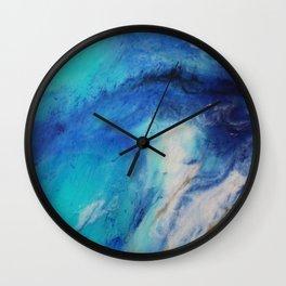 Blue Watercolor Abstract Wall Clock
