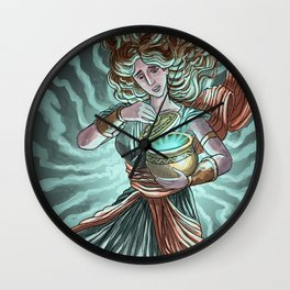 pandora opening the box Wall Clock
