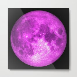 Purple full moon Metal Print