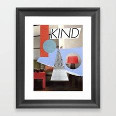 kind Framed Art Print