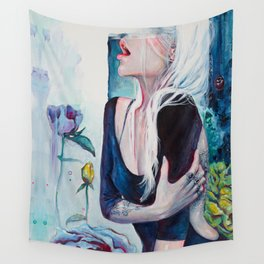 In Her Garden Wall Tapestry