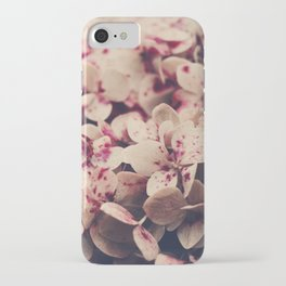 hydrangea - pink freckles iPhone Case