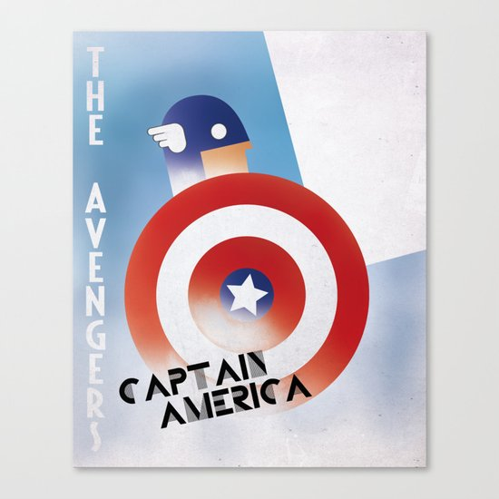 CASSANDRE SPIRIT - Captain America Canvas Print