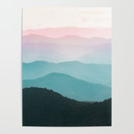 Smoky Mountain National Park Sunset Layers III - Nature Photography Poster