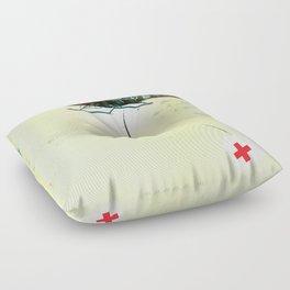 "Glue Network Print Series ""Emergency Relief"" Floor Pillow"
