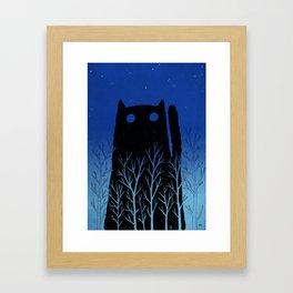 Black Cat Framed Art Print