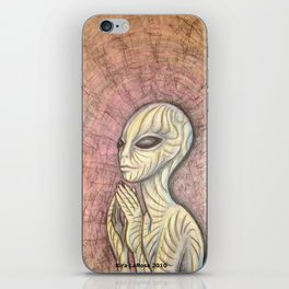 Alien Prayer iPhone Skin