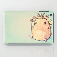 prince iPad Cases featuring Prince Angel of Bunnyland by Mike Koubou
