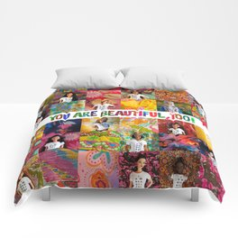 You Are Beautiful, Too! (square) Comforters