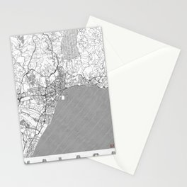 Malaga Map Line Stationery Cards