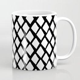 Rhombus White And Black Coffee Mug