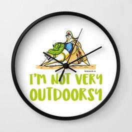 I'm Not Very Outdoorsy Wall Clock