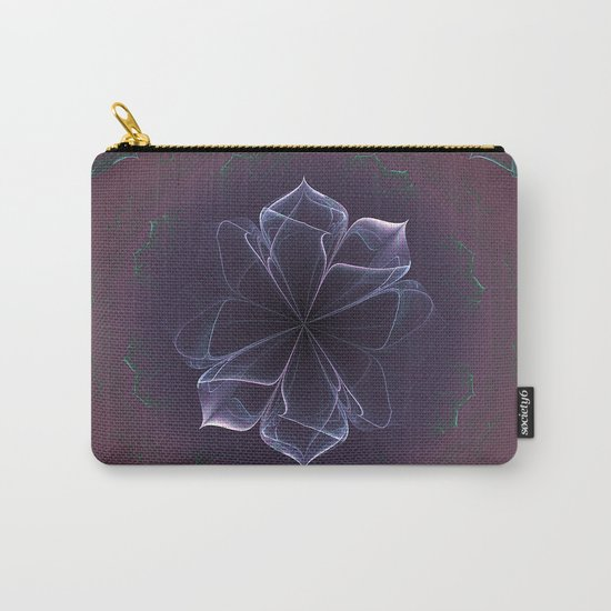 Amethyst Ornate Blossom in Soft Pink Carry-All Pouch