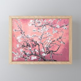 Van Gogh Almond Blossoms : Peachy Pink Framed Mini Art Print