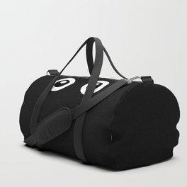 Scared Cartoon Eyes in the Dark Duffle Bag