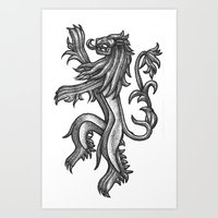 lannister Art Prints featuring A Lannister Always Pays His Debts by Michael Wybrow