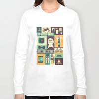 risa rodil Long Sleeve T-shirts featuring Empty Hearse by Risa Rodil