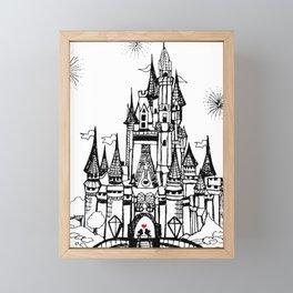 Mouse in Love Framed Mini Art Print